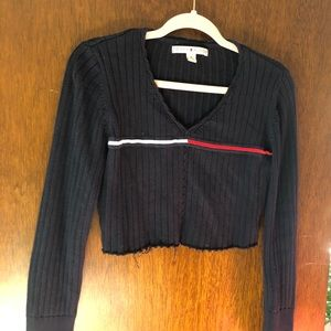 Reworked Tommy Hilfiger cropped sweater